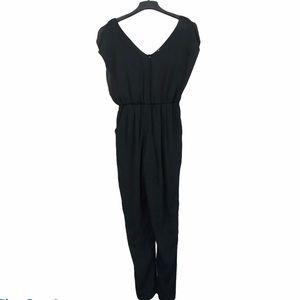 Want and need black chiffon jumpsuit size small